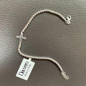 Davvero Cross Bracelet in Sterling Silver